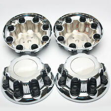 "4pcs Chrome GMC Chevy Silverado Sierra Wheel Center Caps For 16"" 17"" 8 Lug Wheel"