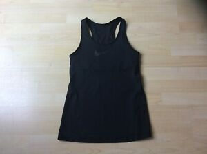 NIKE Women's Black Training Racer Back Top with Built in Support. Size: M
