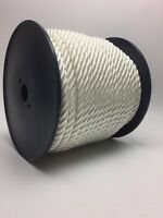 12mm White Nylon Rope x 50 Metre Reel, Anchor Line Boat Dock Mooring Yacht Warp