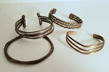 Copper / Brass Mixed Metal Cuff & Bangle Bracelets Lot Of 4 - 1 Sergio Lubb