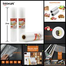 Vacuum Sealer Storage Bags Huge Roll for Food Saver 25x500cm Commercial Grade