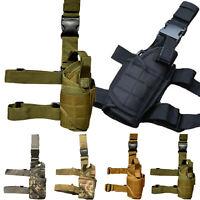 Tactical Military Gun Drop Leg Holster Airsoft Hunting Pistol Pouch Holster Camo