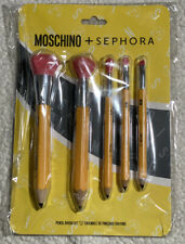 NEW Authentic MOSCHINO + Sephora Pencil Brush Set 5 Pieces ~ LIMITED EDITION