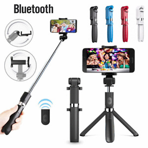 3-in-1 Extendable Selfie Stick Tripod Stand Removable Bluetooth Wireless