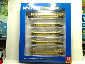WALTHERS MAINLINE HO SCALE THRALL 5-UNIT 40' WELL CAR TTX DTTX 910-55624