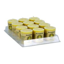 Set of 12 Scented Chakra Votive Candles - Manipura Will Power
