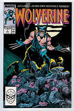 WOLVERINE #1 9.0 1ST ONGOING SERIES 1988 WHITE PAGES C KEY BOOK🔑