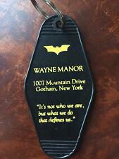 Batman inspired WAYNE MANOR Keytag, keyfob