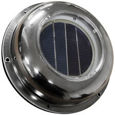 NEW Solar Vent, Exhaust Fan, Roof Vent Stainless Steel Cover