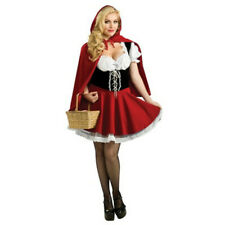 Miss Little Red Riding Hood Storybook Fancy Dress Halloween Costume Outfit S-6XL