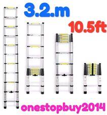3.2M 10.5ft Aluminum Telescopic Loft Ladder Extension Extendable