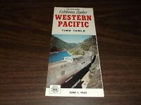 JUNE 1962 WESTERN PACIFIC CALIFORNIA ZEPHYR PUBLIC TIMETABLE