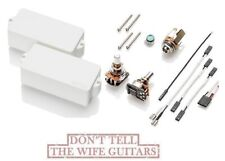 EMG P HZ WHITE P BASS PASSIVE PRECISION REPLACEMENT PICKUP POTS & WIRING PHZ