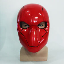 Red Hood Mask Adult Cosplay Accessory PVC Full Face Halloween Helmet for Sale
