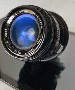 Olympus OM-System Zuiko 35mm f2.8 Shift SLR Lens NEAR MINT CLEAN CRISP CONDITION