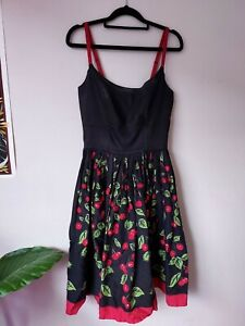 Pinup Girl Clothing Black Cherry Dress