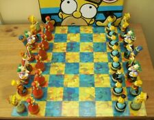 The Simpsons  Chess Set Boxed Complete With Board