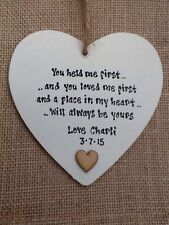 Shabby Chic Heart Wooden Dad Decorative Plaques & Signs