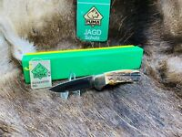 1978 Puma 745 4 Star Knife With Stag Handles Mint In G / Y Factory Box With Tag