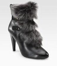Rebecca Minkoff Black Short Faux-Fur Boot Shoe, SIZE 7