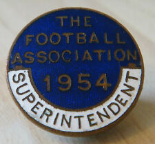 THE FOOTBALL ASSOCIATION 1954 SUPERINTENDENT Badge Brooch pin 28mm x 28mm