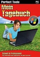 Mein Tagebuch Perfect Tools NEU/OVP PC Software Erinnerungen sicher aufbewahren