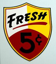 REGAL, FRESH, FIVE CENT, WATER SLIDE DECAL # DR 1070 FOR VENDING