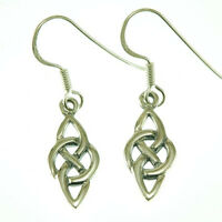 Celtic Knot Tiny Silver Earrings, Plain Sterling Silver, Irish Jewelry, ep153