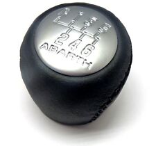 GRANDE PUNTO & EVO ABARTH 6 Velocità Pomello del Cambio in Pelle Nera Nuovo di Zecca originale