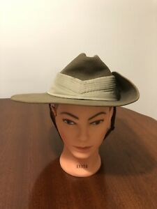 Australian Army Military Slouch Hat Fayrefield Melbourne 1975 Size 58 VGC