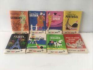 1963  fly TWA travel tips books France  Spain Germany Ireland  Etc Lot Free Ship