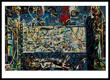 Jackson Pollock Kunstkarte Postkarte nicht signiert