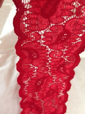 Stretch lace trim FIRE ENGINE RED 2 3/8 in. width 10 yards for  $2.50