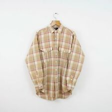 Vintage RALPH LAUREN Brown Check Shirt | Flannel Retro Polo Sport | Medium M