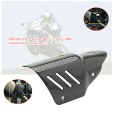 Motorcycle Exhaust Pipe Carbon Fiber Cover Protector Heat Shield Universal x1