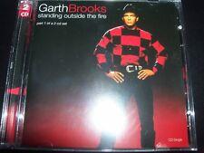Garth Brooks Standing Outside The Fire UK 2 CD Single Set