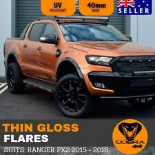 FENDER FLARES THIN GLOSS BLACK TRIM FITS FORD RANGER PX2 MK2 2015 2016 2017 2018