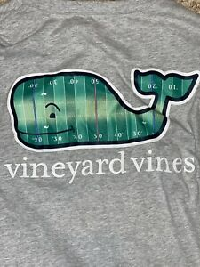 Vineyard Vines Mens Size Medium Long Sleeve Football T-shirt