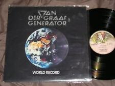 VAN DER GRAAF GENERATOR : World Record - Rare VG++ LP Vinyl 33RPM - PROG. ROCK