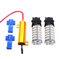 2X 3157 60SMD Dual Color Colour Switch backwards White Amber Turn Signal LED Kit