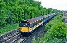 PHOTO  EMU 9107 AT SALFORDS UP GATWICK EXP. . 11.50AM. 11.5.99