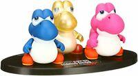 Medicom Toy UDF Super Mario Bros. U Mini Yoshi Pink Blue Yellow Set Figure