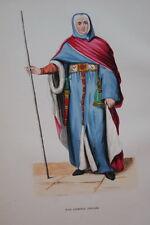 GRAVURE-GUILLAUME GASCOIGNE JUGE HENRI V-COSTUMES MOYEN AGE 1847-ANTIQUE  PRINT