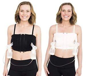 Simple Wishes Hands Free Breast Pump Bra Black Adjustable Sizing XS-LG