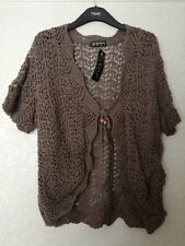 Ladies Cardigan Size L/XL (18-20) mocca chocolate colour New with tag