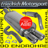 FRIEDRICH MOTORSPORT V2A AUSPUFFANLAGE Opel Corsa C 1.0 1.2 1.3 CDTI 1.4 1.7 DI+
