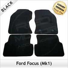 Ford Focus Estate Mk1 1998-2005 Tailored LUXURY 1300g Carpet Car Mats BLACK