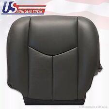 2003 To 2006 Chevy Silverado Crew Cab Dark Gray Leather Driver Seat Bottom