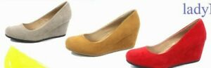 NEW Women's Fahsion Classic  Round Toe  Low Wedge Pump Sandal Shoes Various Size