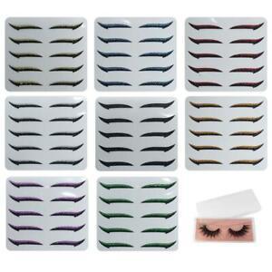 10x Reusable Eyeliner And Eyelash Stickers With 1Pair False Eyelashes